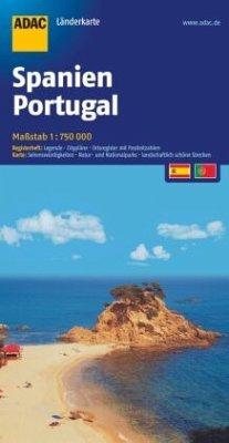 ADAC Karte Spanien, Portugal