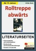 Rolltreppe abwärts / Literaturseiten
