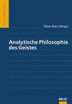 Analytische Philosophie des Geistes - Bieri, Peter (Hrsg.)