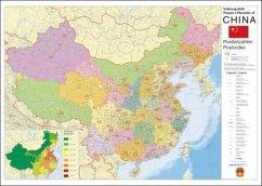 Stiefel Wandkarte Großformat China, Postleitzah...