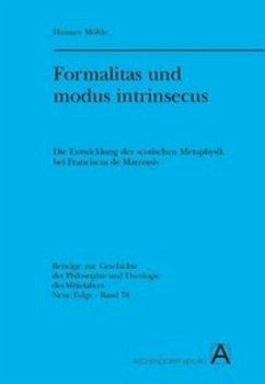 Formalitas und modus intrinsecus - Möhle, Hannes