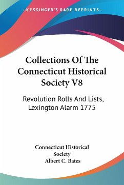 Collections Of The Connecticut Historical Society V8