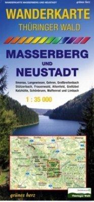 Wanderkarte Thüringer Wald, Masserberg und Neustadt