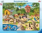 Ravensburger 06777 - Im Streichelzoo, Rahmenpuzzle 47 Teile