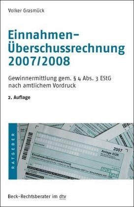 Einnahmen-Überschussrechnung 2007/2008 - Grasmück, Volker