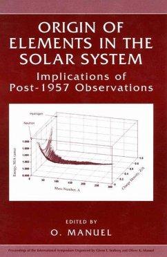 Origin of Elements in the Solar System - Manuel, Oliver K. (Hrsg.)