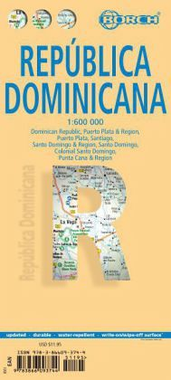 Borch Map Dominican Republic; República Dominicana