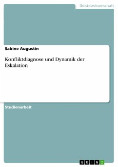 Konfliktdiagnose und Dynamik der Eskalation
