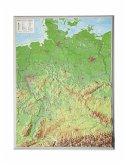 Deutschland, Reliefkarte, Klein. Germany