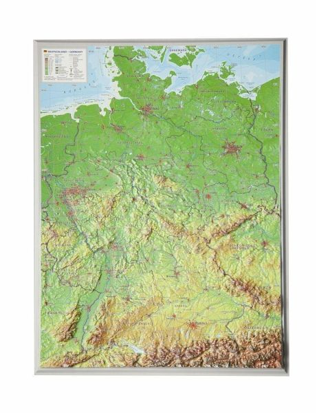 PLZ-Karte Stiefel Wandkarte Großformat Deutschland ohne Metallstäbe NEU