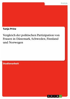 Vergleich der politischen Partizipation von Frauen in Dänemark, Schweden, Finnland und Norwegen