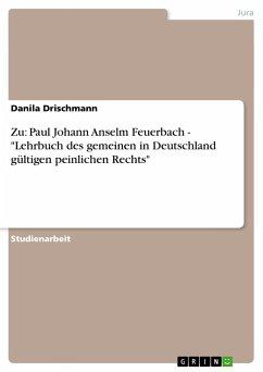 Zu: Paul Johann Anselm Feuerbach -
