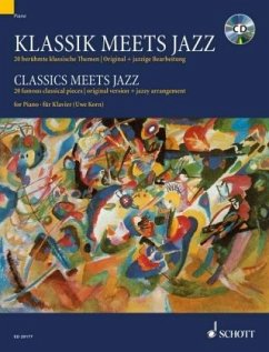 Klassik meets Jazz, für Klavier, m. Audio-CD