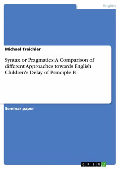 Syntax or Pragmatics: A Comparison of different Approaches towards English Children's Delay of Principle B
