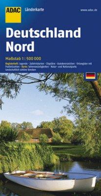ADAC Karte Deutschland Nord