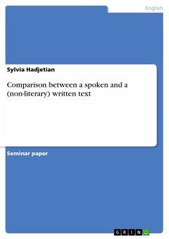 Comparison between a spoken and a (non-literary) written text