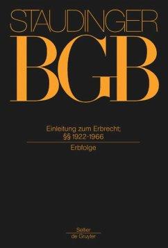 Einleitung zum Erbrecht; §§ 1922-1966 - Staudinger, Julius von
