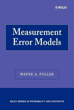 Measurement Error Models P - Fuller