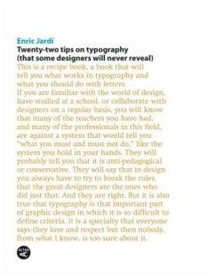 Twenty Two Tips on Typography - Jardí, Enric