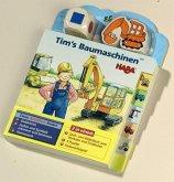 Tim's Baumaschinen (Rahmenpuzzle), m. Holzwürfel u. -figur