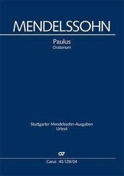 Paulus op.36, Klavierauszug, deutscher Text - Mendelssohn Bartholdy, Felix