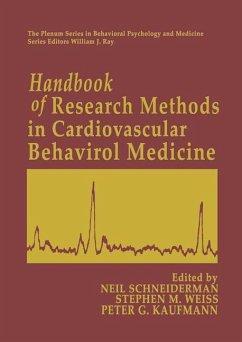 Handbook of Research Methods in Cardiovascular Behavioral Medicine - Schneiderman