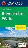 Kompass Karte Bayerischer Wald, 3 Bl. m. Kompass Naturführer Wiesenblumen