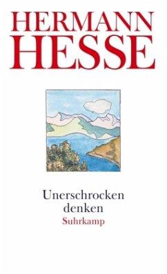Unerschrocken denken - Hesse, Hermann