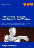 Transfer des Taijiquan vom Osten in den Westen