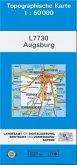 Topographische Karte Bayern Augsburg