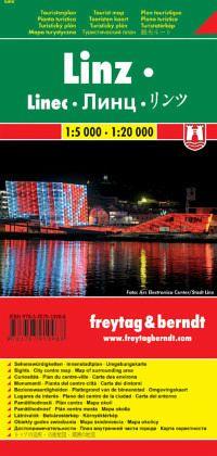 Freytag & Berndt Stadtplan Linz, Touristenplan; Linec