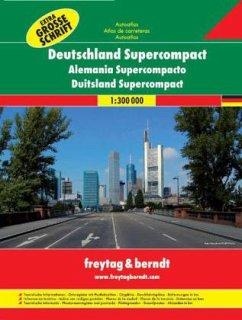 Deutschland Supercompact Autoatlas 1 : 300 000