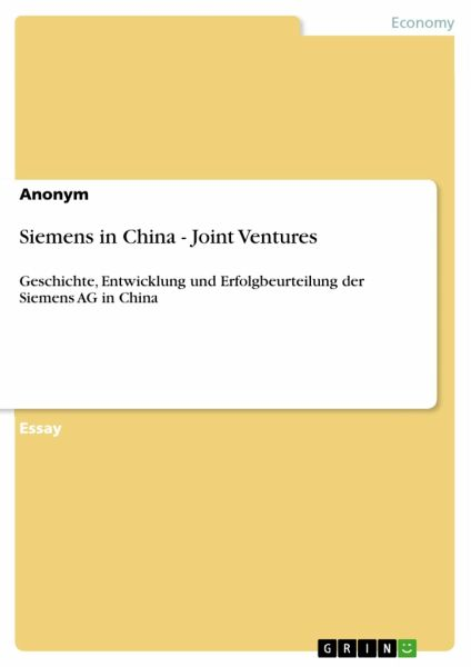Lessons for joint ventures in china essay