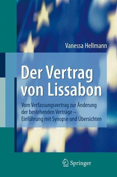 Der Vertrag Von Lissabon Von Vanessa Hellmann Fachbuch Bücherde