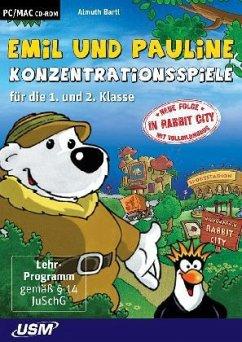 Emil und Pauline in Rabbit City - Konzentrationsspiele für die 1. und 2. Klasse (PC+Mac)