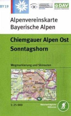 Alpenvereinskarte Chiemgauer Alpen Ost, Sonntagshorn