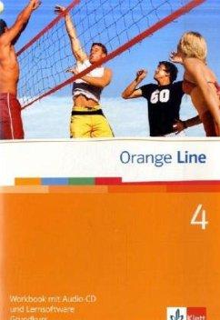 Orange Line 4. Grundkurs Klasse 8. Workbook mit Audio-CD und Lernsoftware
