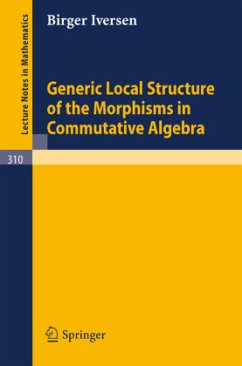 Generic Local Structure of the Morphisms in Commutative Algebra - Iversen, Birger