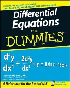 Differential Equations For Dummies - Holzner, Steven
