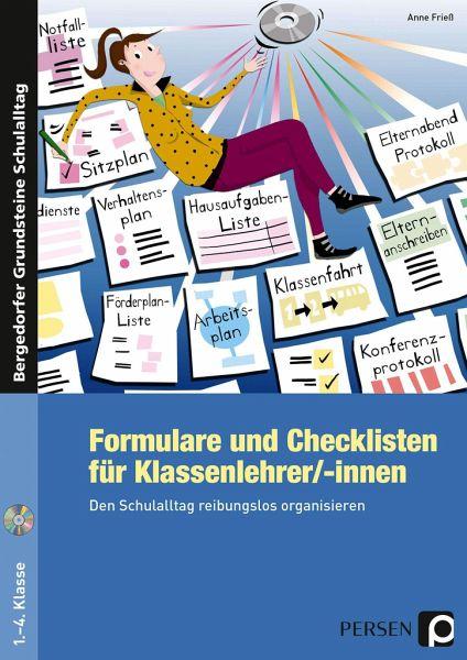 Formulare und Checklisten für Klassenlehrer/-innen von Anne Frieß ...