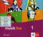5./6. Schuljahr, 3 Audio-CDs + 1 CD-ROM / Musik live Bd.1
