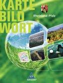 Rheinland-Pfalz. Karte Bild Wort: Grundschulatlas. Schülerband