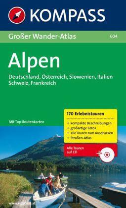 Kompass Großer Wanderatlas Alpen, m. CD-ROM