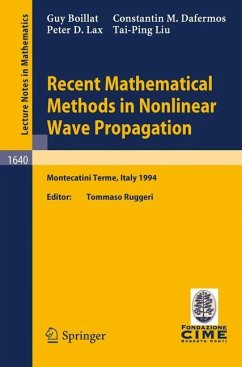Recent Mathematical Methods in Nonlinear Wave Propagation - Boillat, Guy; Dafermos, Constantin M.; Lax, Peter D.; Liu, Tai-Ping