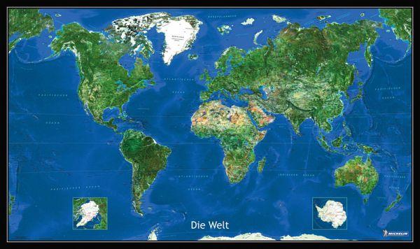 Michelin Karte Die Erde, Blick aus dem All, Plano, plastifiziert, m. Leiste