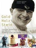 Gold Holz Stein