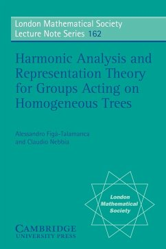 Harmonic Analysis and Representation Theory for Groups Acting on Homogenous Trees - Figa-Talamanca, Alessandro Fig -Talamanca, Alessandro