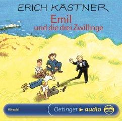 Emil und die drei Zwillinge, 1 Audio-CD - Kästner, Erich