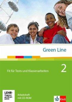 Green Line 2. Fit für Tests und Klassenarbeiten. Arbeitsheft und CD-ROM mit Lösungsheft - Horner, Marion