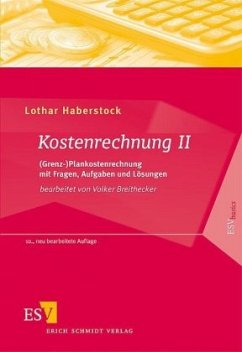 Kostenrechnung 2 - Haberstock, Lothar